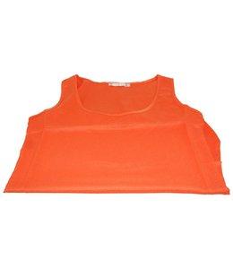 Huismerk Koningsdag Zomer Candy Chiffon T-shirt Oranje S