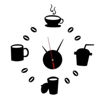 Creative Koffie 3D Klok Zwart
