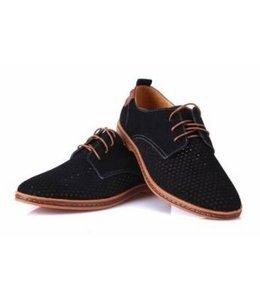 Huismerk Casual Leren Mannen Schoenen Zwart