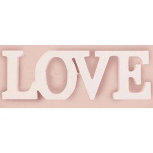 Huismerk Wood Letters Love
