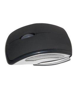 Huismerk Opvouwbare 2,4 GHz Draadloze Optische USB Muis Zwart
