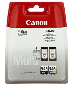 Huismerk Canon PG-545 / CL-546 Multipack zwart en kleur Origineel Inktjet cartridge 2 Stuks