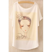 Loose Korte Print T-shirt 1