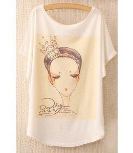 Huismerk Loose Korte Print T-shirt 1
