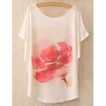 Loose Korte Print T-shirt 6
