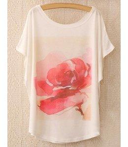 Huismerk Loose Korte Print T-shirt 6