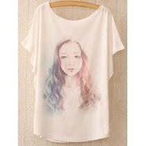 Loose Korte Print T-shirt 2