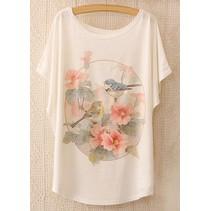 Loose Korte Print T-shirt 3