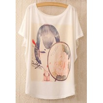 Loose Korte Print T-shirt 4