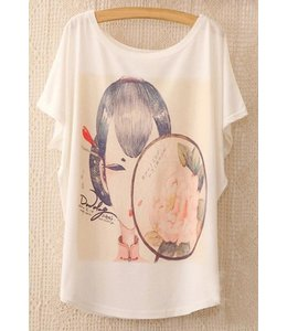 Huismerk Loose Korte Print T-shirt 4