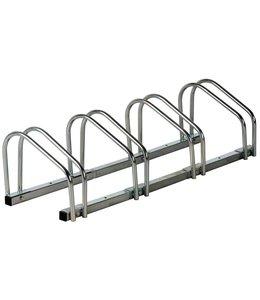 Dubbele Fietsenrek voor 4 fietsen (wand- en vloerbevestiging)