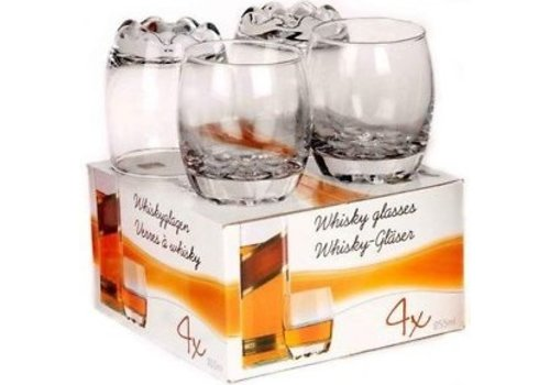 Excellent Houseware. Whiskey / Wodca glazen 4 stuks 255 ml