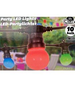 Party Lighting LED light multicolor 10pcs 50LED 230V