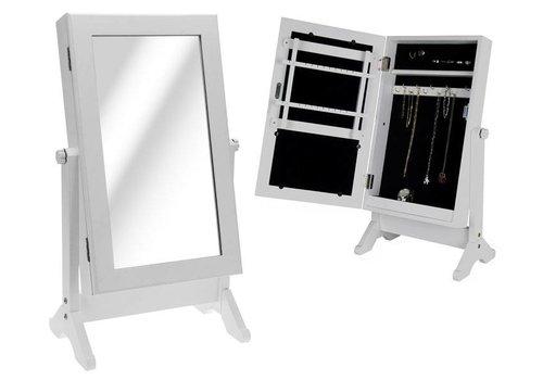 Cabinet met spiegel (voor sieraden)