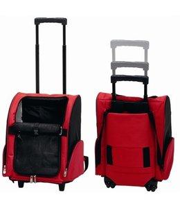 Draagbare trolley rood/zwart