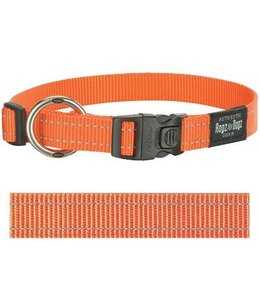 Rogz for dogs fanbelt halsband oranje