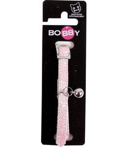 Bobby kattenhalsband glitter roze