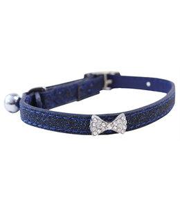 Feline finesse kattenhalsband kunstleer glitter strik