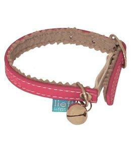 Lief! kattenhalsband kitten girls met elastiek roze