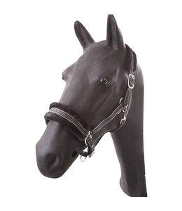Hb nylon halster pony las vegas zwart/grijs