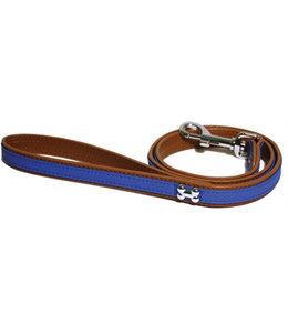 Wag 'n' walk looplijn puppy / kleine hond blauw met stud