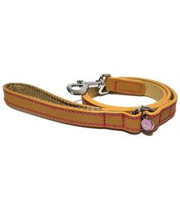 Luxury leather lijn hond leer luxe zand