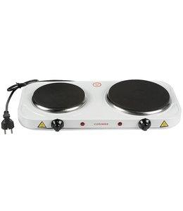 Cuisinier Deluxe Elektrische Duo kookplaat 1000/1500W