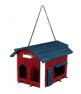 Trixie voederhuis boerderij hout rood