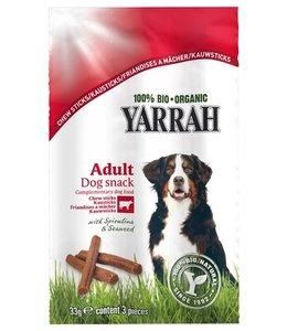 25x yarrah biologische kauwstaafjes hond rund met zeewier en spirulina