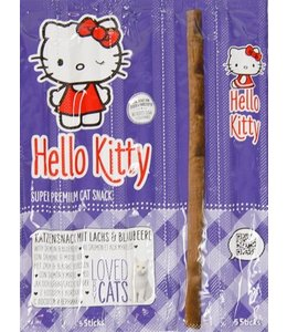 Hello kitty super premium katten snack zalm / blauwe bosbes