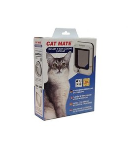 Catmate rotary kattenluik wit 4 standen