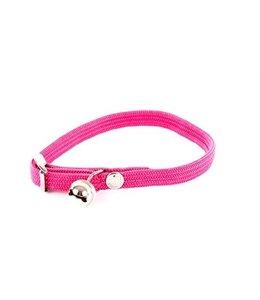 Halsband kat elastisch nylon roze