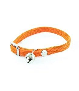 Halsband kat elastisch nylon oranje