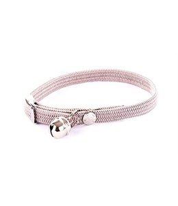 Halsband kat elastisch nylon grijs