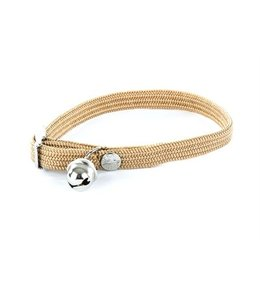 Halsband kat elastisch nylon beige