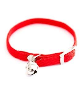 Halsband kat elastisch nylon rood