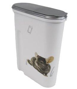 Curver voedselcontainer opdruk knaagdier wit/zilver