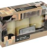 Arti Casa Kaars realistic flame LED Wax 3 stuks