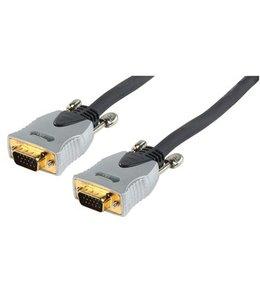 HQ VGA Kabel VGA Male - VGA Male 10.0 m Donkergrijs