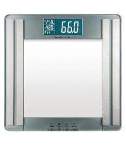 BMI Personenweegschaal 180 kg Transparant/Grijs