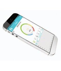 König BMI Personenweegschaal Bluetooth 4.0 150 kg Wit