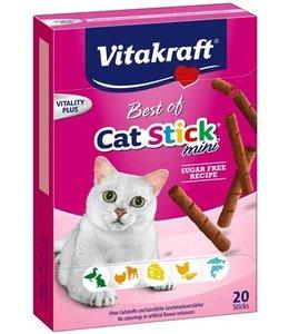 Vitakraft best of cat stick mini suiker vrij