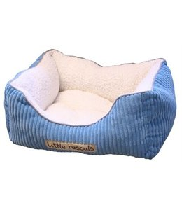 Little rascals sweet dreams bed vierkant ribstof blauw