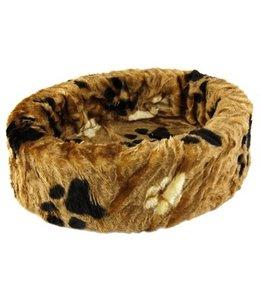 Petcomfort katten/hondenmand bont bruin grote poot