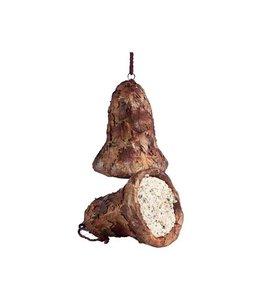 Klok gevuld met vet en zaden