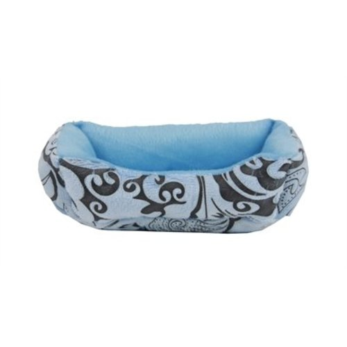 Huismerk Hamsterdivan blauw/deco