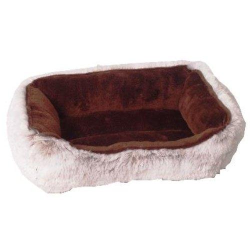 Huismerk Divan hamster bed pluche bruin