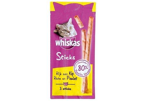 28x whiskas snack sticks kip