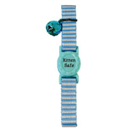 Boon Kittenhalsband streep blauw