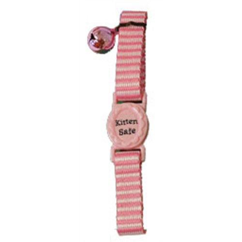 Huismerk Kittenhalsband streep roze